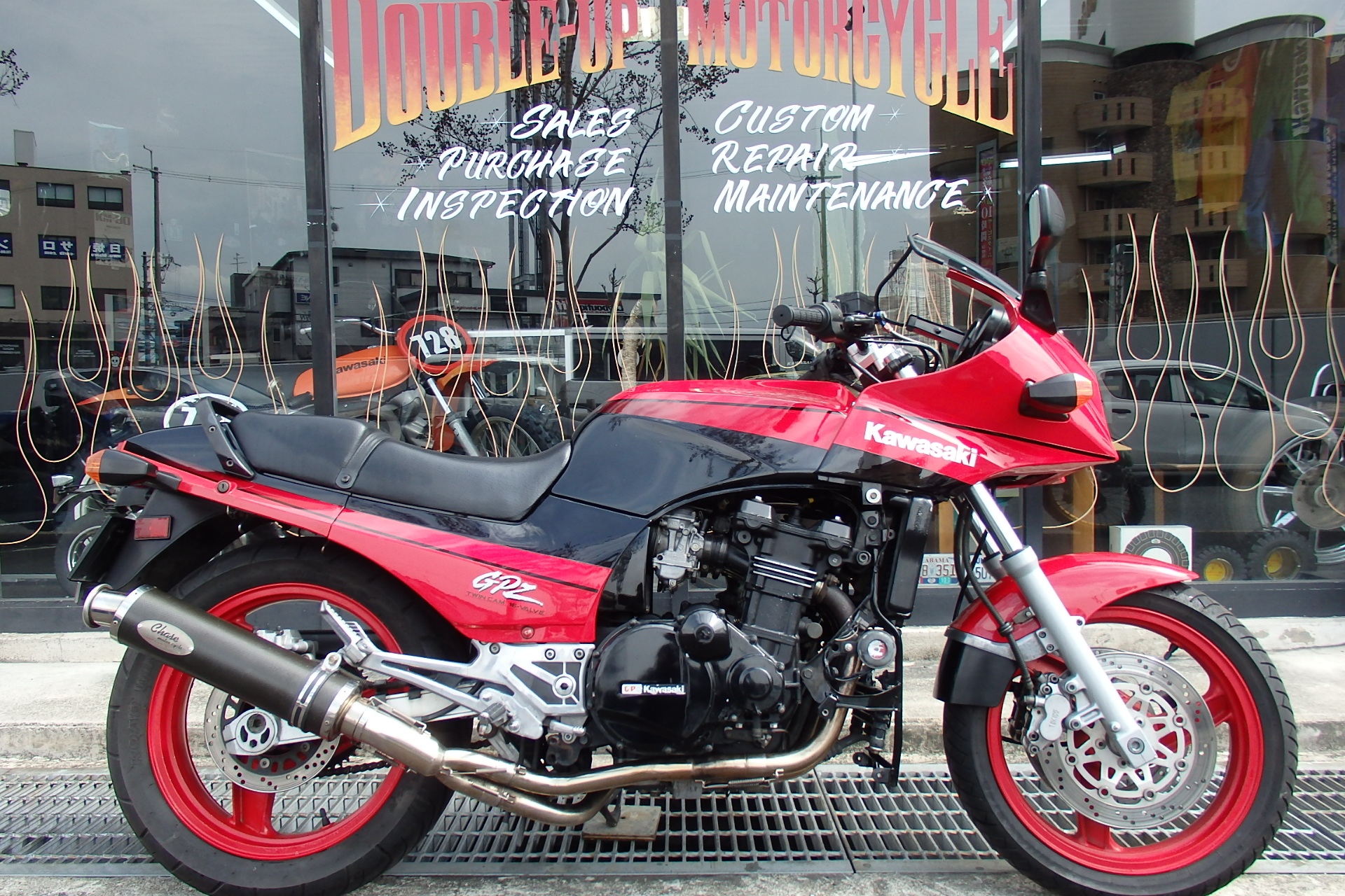 GPZ900R A8 17インチ カーボンマフラー